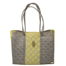Load image into Gallery viewer, GRAY/YELLOW  AZTECA  TRAVEL TOTE WITH CLUTCH