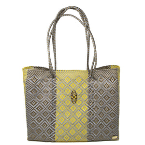 GRAY/YELLOW  AZTECA  TRAVEL TOTE WITH CLUTCH