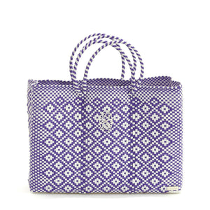 PURPLE AZTECA BOOK TOTE WITH CLUTCH