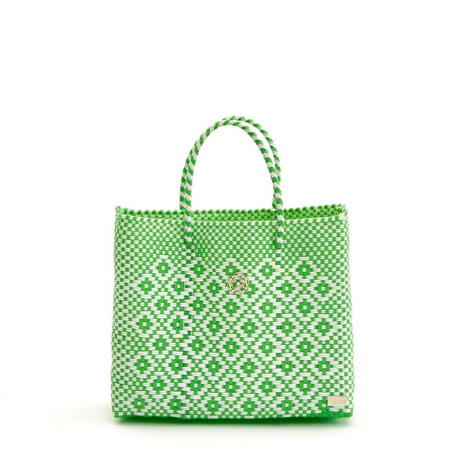 SMALL GREEN AZTEC TOTE BAG