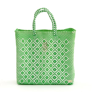 MEDIUM GREEN AZTEC TOTE BAG
