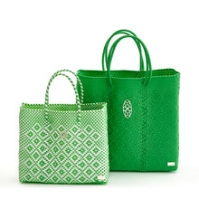 Load image into Gallery viewer, MEDIUM GREEN TOTE BAG