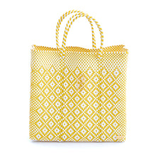 Load image into Gallery viewer, MEDIUM YELLOW AZTEC TOTE BAG