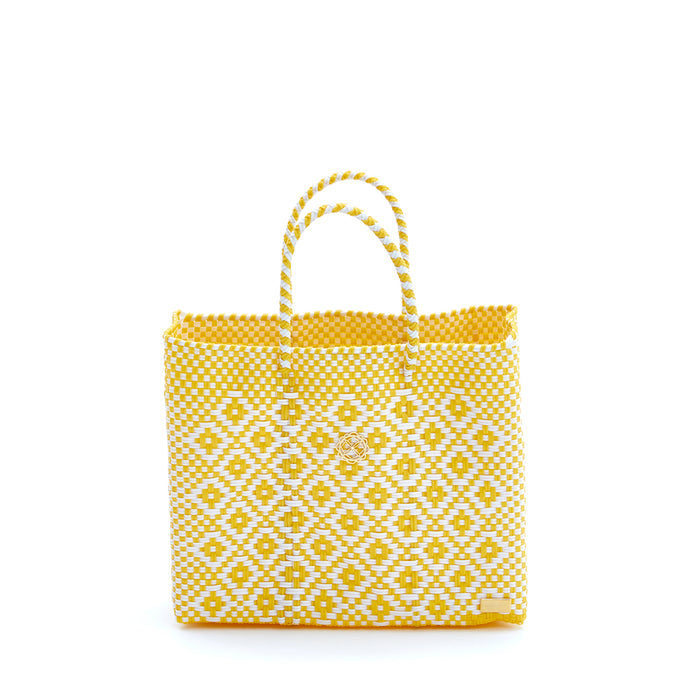 SMALL YELLOW AZTEC TOTE BAG