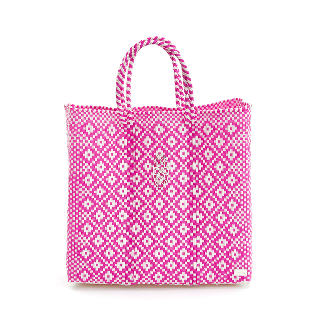 MEDIUM PINK AZTEC TOTE BAG