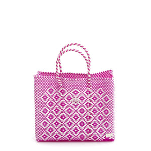 SMALL PINK AZTEC TOTE BAG