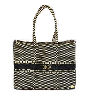 BLACK BEIGE TRAVEL TOTE WITH CLUTCH