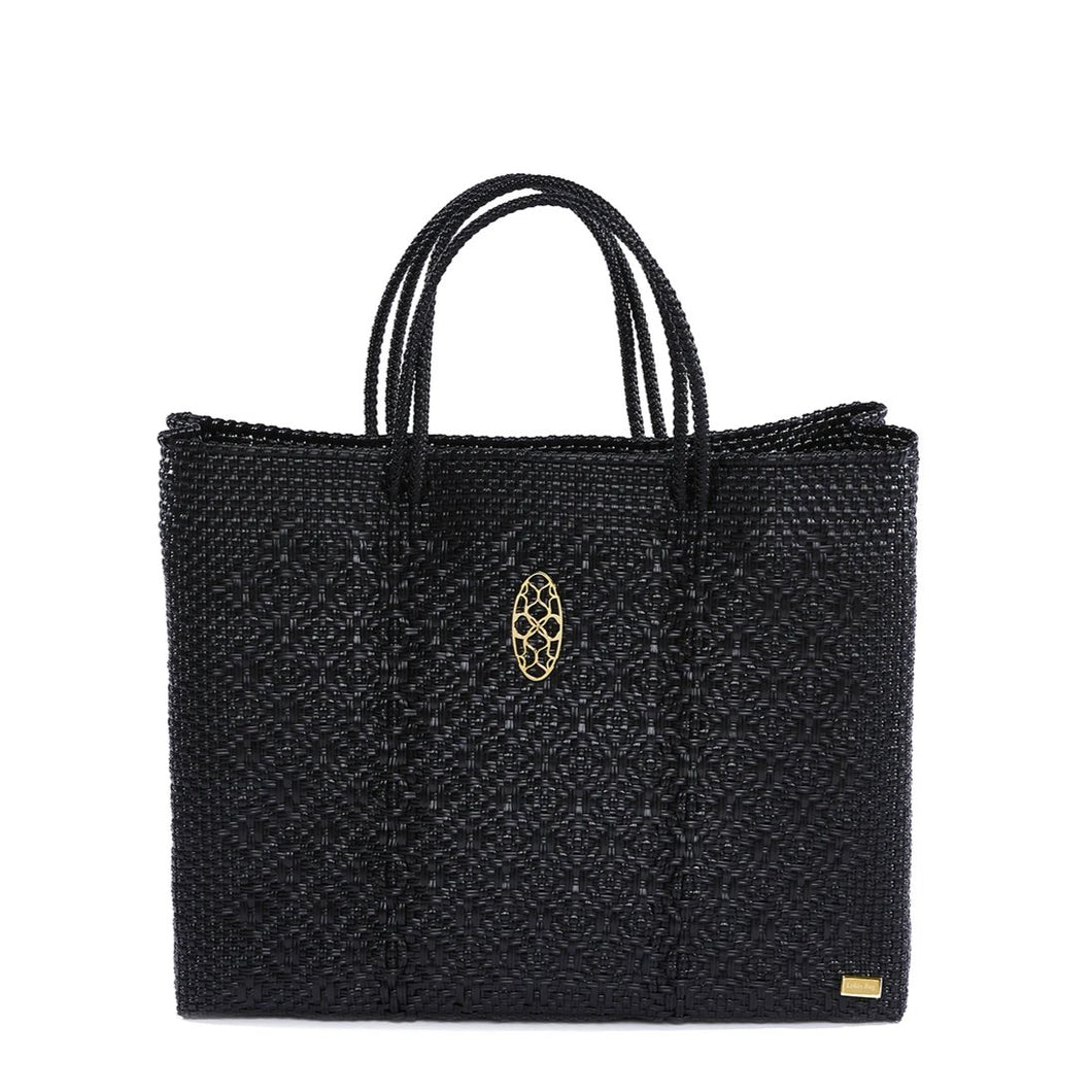 BLACK BOOK TOTE AND CLUTCH BAG