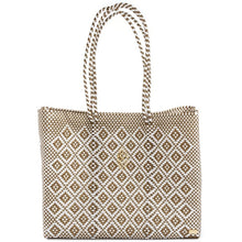 Load image into Gallery viewer, GOLD AZTEC TRAVEL TOTE BAG WITH CLUTCH