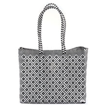 Load image into Gallery viewer, BLACK AZTEC TRAVEL TOTE BAG WITH CLUTCH