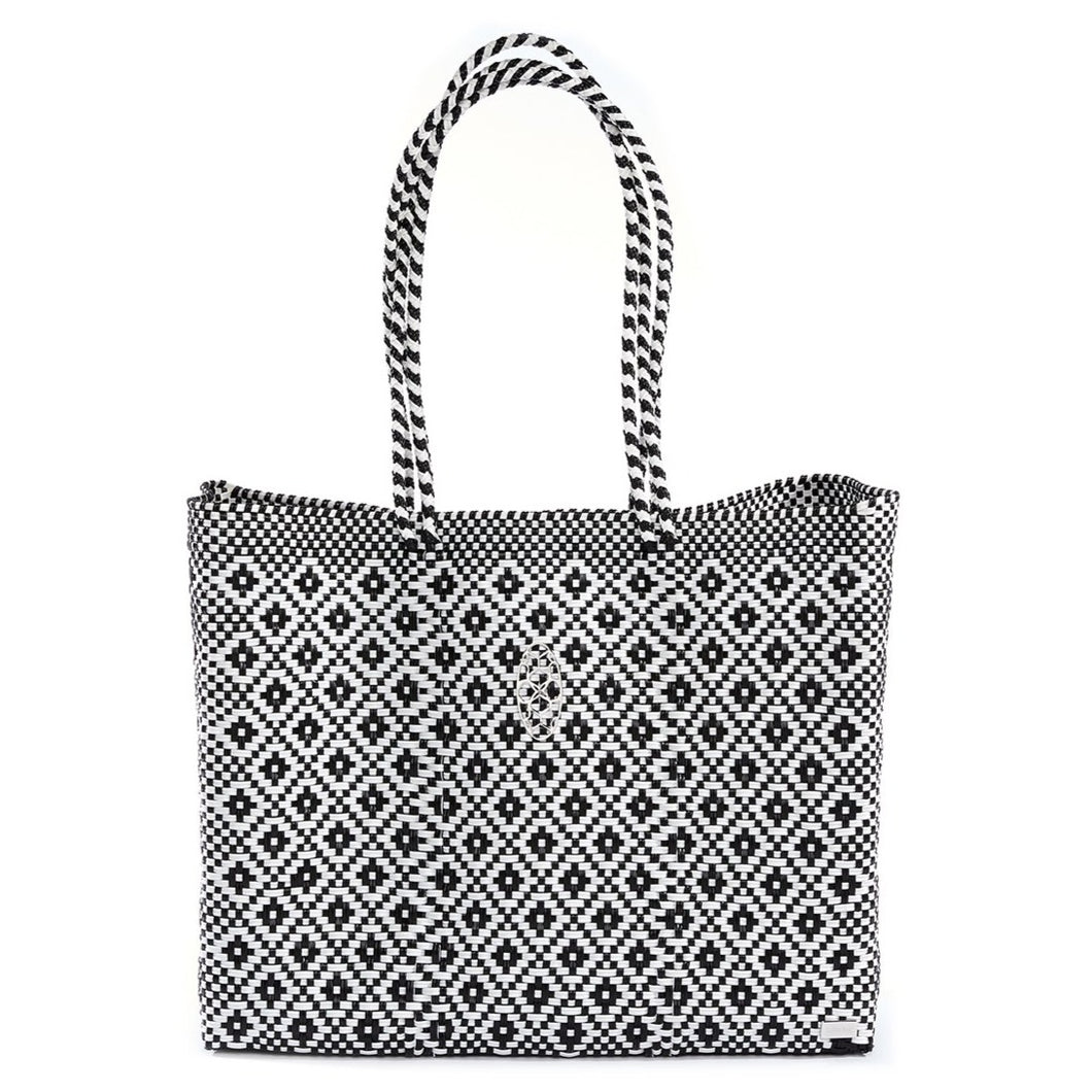 BLACK AZTEC TRAVEL TOTE BAG WITH CLUTCH