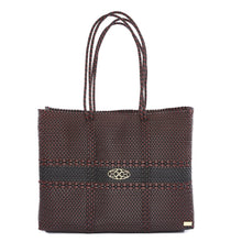 Load image into Gallery viewer, BURGUNDY BLACK TRAVEL TOTE WITH CLUTCH