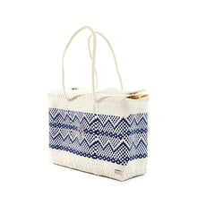 Load image into Gallery viewer, WHITE BLUE AZTEC TRAVEL CASE