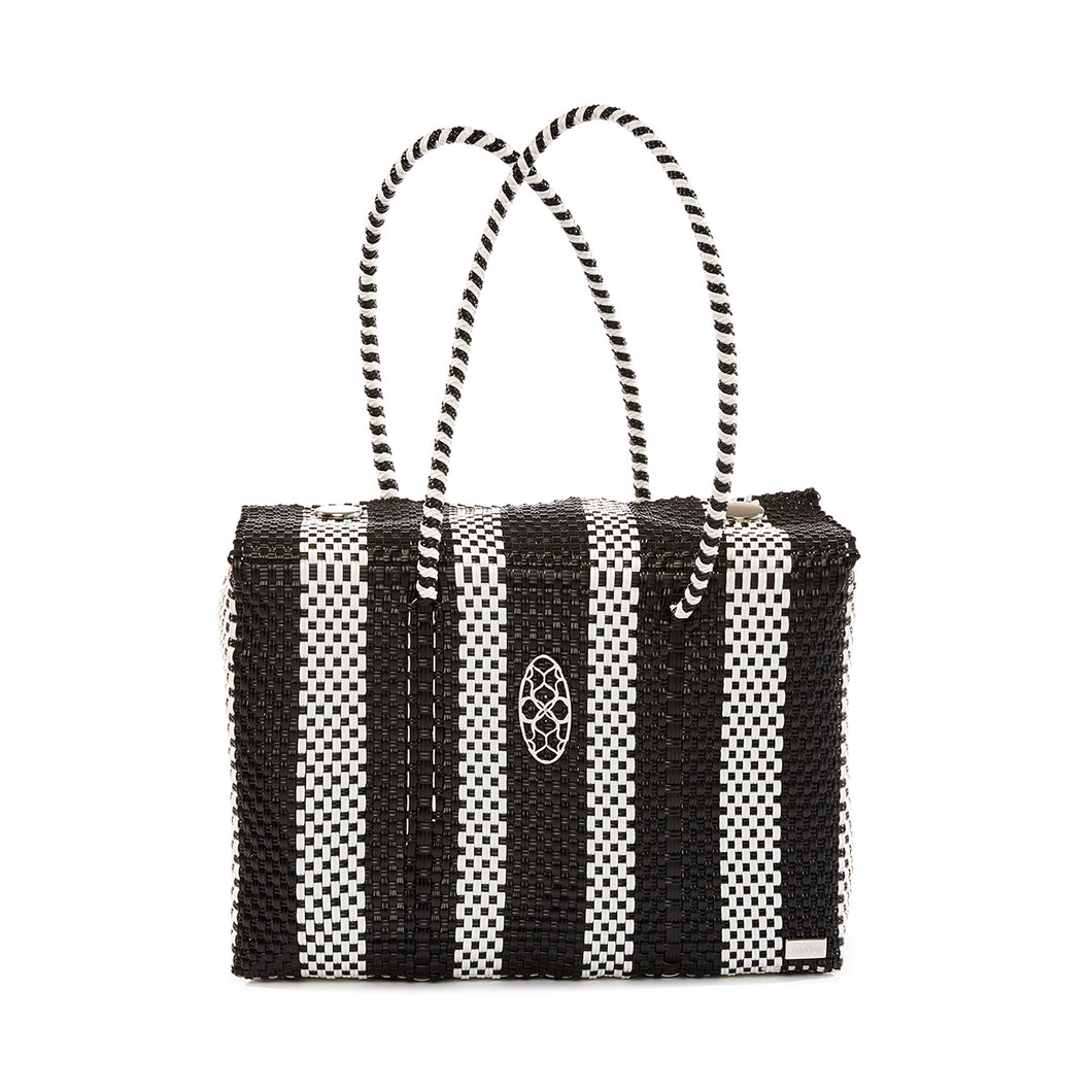 BLACK STRIPED TRAVEL CASE