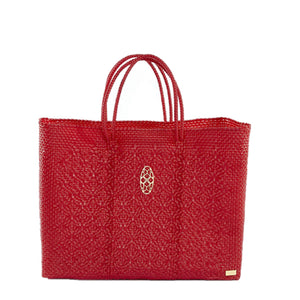 RED BOOK TOTE BAG AND CLUTCH