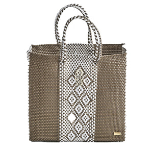 MEDIUM GOLD AZTEC TOTE BAG