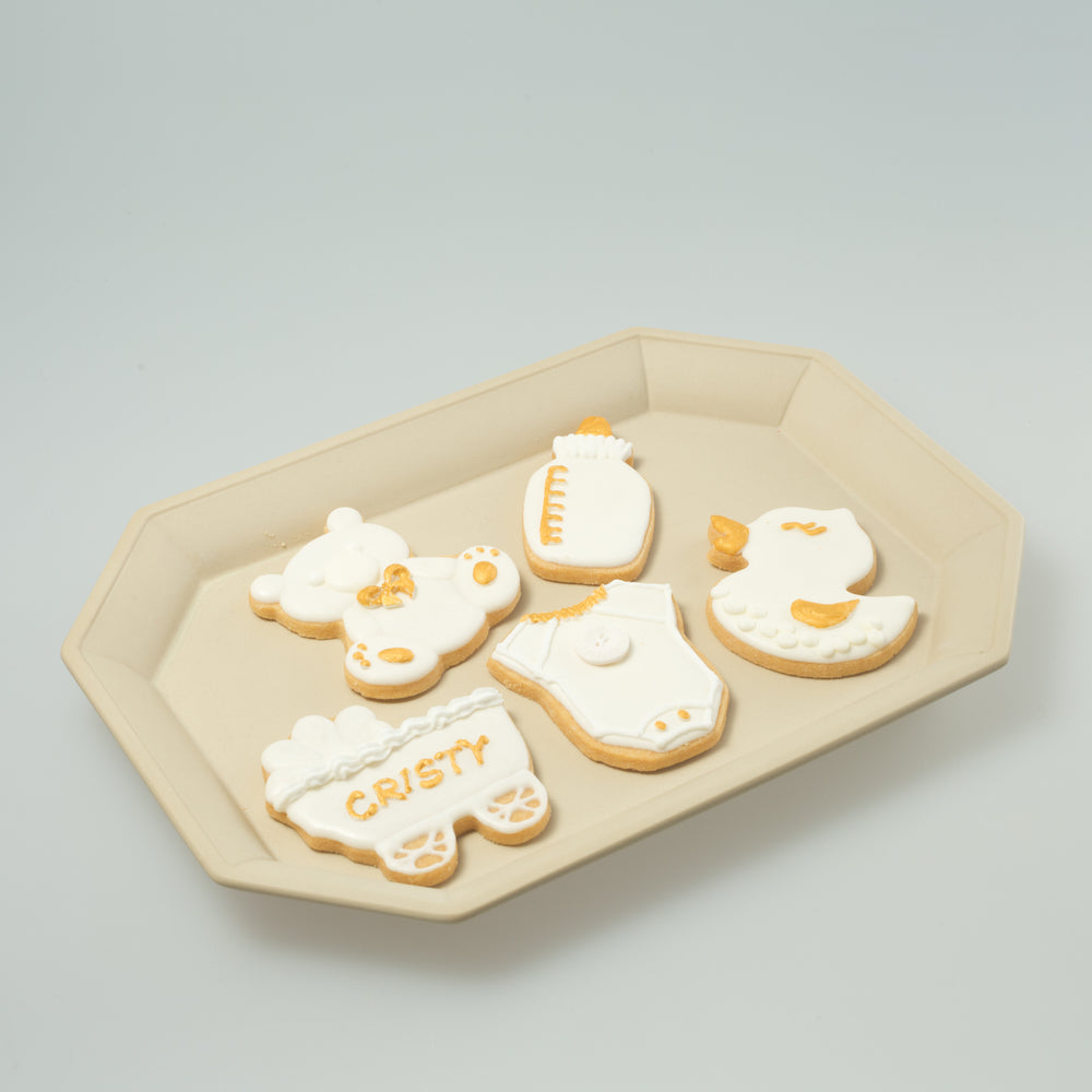 Babies / Kids party Icing Cookies (Golden White)