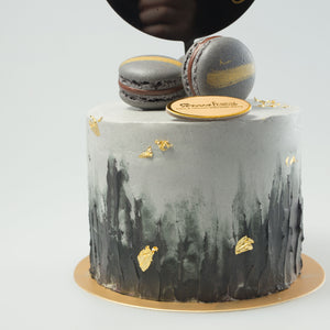 Black and Grey Tall Cake