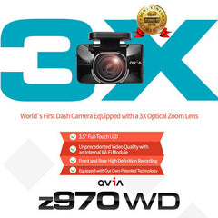 QVIA z970G z970 WD Car Black Box 2-Ch Dashcam | 16GB, 24GB, 40GB