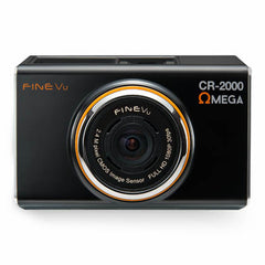 FineVu New CR-2000 OMEGA 2CH Full HD 32GB Video Car Dash Cam Recorder - With GPS