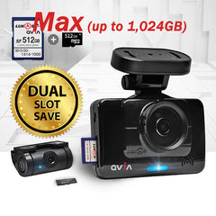 QVIA R935 R935G Car Black Box 2-Ch Dashcam | 16GB, 24GB, 40GB