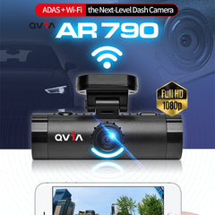 Qvia AR790 2Ch. Full HD Blackbox Dash Camera ADAS + FCWS + LDWS + FVSA + WDR + Night Vision + Wi-Fi