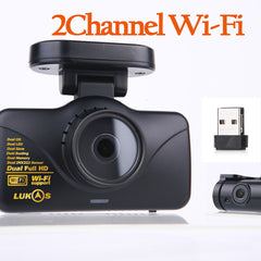 Lukas LK-7950 WD FHD & FHD Wi-Fi Smart 2CH Dash Cam with GPS (16GB, 24GB OR 40GB)
