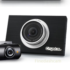 FineVu CRTSTAL 2CH Car Dashcam (32GB) - ADAS+LDWS +FCWS+FVMA +NIGHT VISION