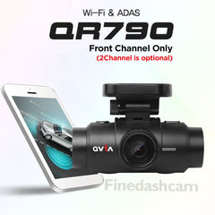 Qvia QR790 Dash Camera (16GB), QHD + FHD, Wi-Fi, GPS & ADAS with Sony STRVIS (IMX326) Sensor - One Channel