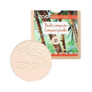 zao compact powder refill, organic makeup, zero waste makeup, plastic free makeup, sustainable makeup, natural ingredients makeup, smooth silk finish makeup