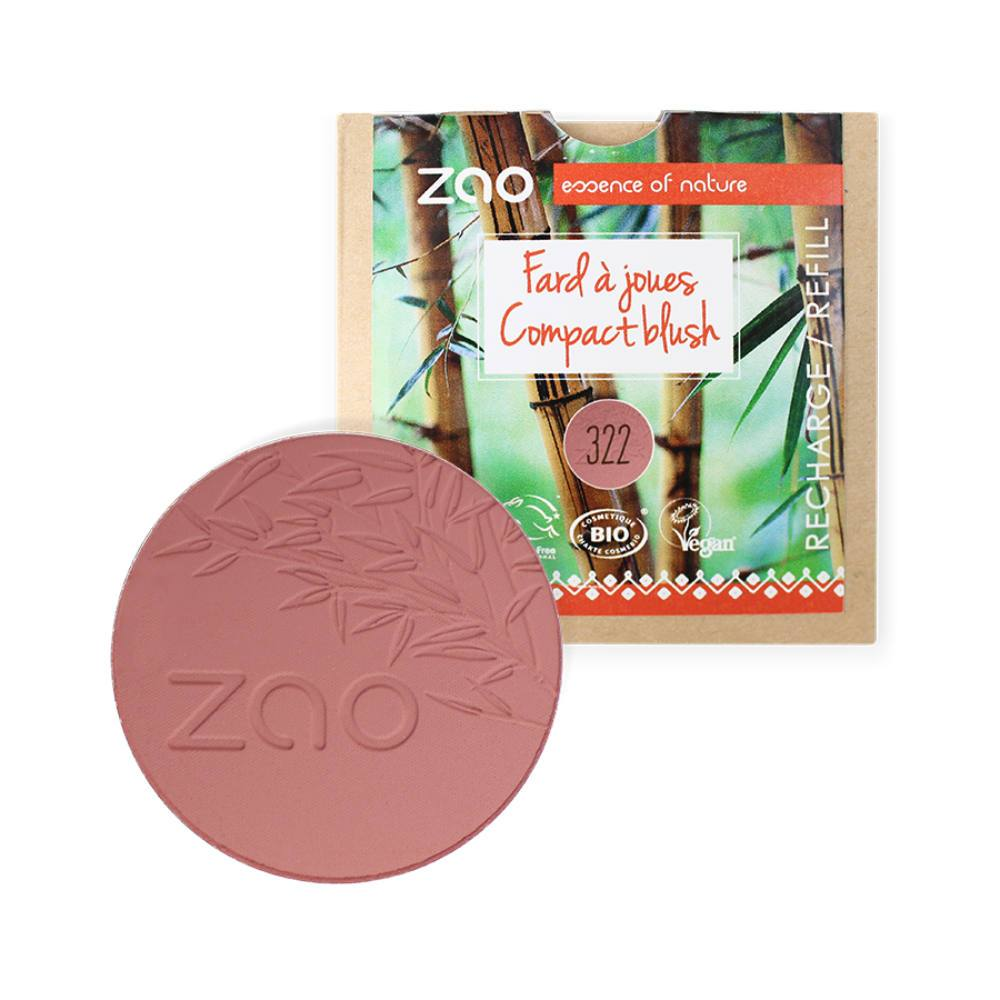 zaoo make up refill, blush refill tao makeup, compact blush 322, organic blush makeup, plastic free makeup, sustainable makeup, eco friendly blush, chemical-free makeup, zero waste makeup, eco kindly makeup