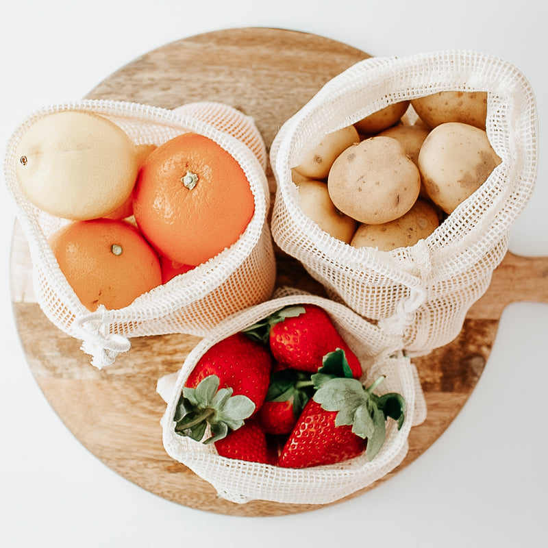 Organic Cotton Mesh Produce Bags - x 4 - Eco Kindly