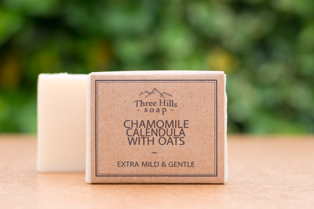 Chamomile Calendula Natural Soap with Oats - Eco Kindly