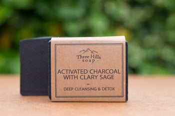 Activated Charcoal Soap with Clary Sage 100% Natural – facial soap - Eco Kindly