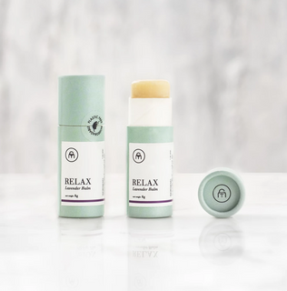 RELAX - Organic Coconut oil lip balm- plastic free - Eco Kindly