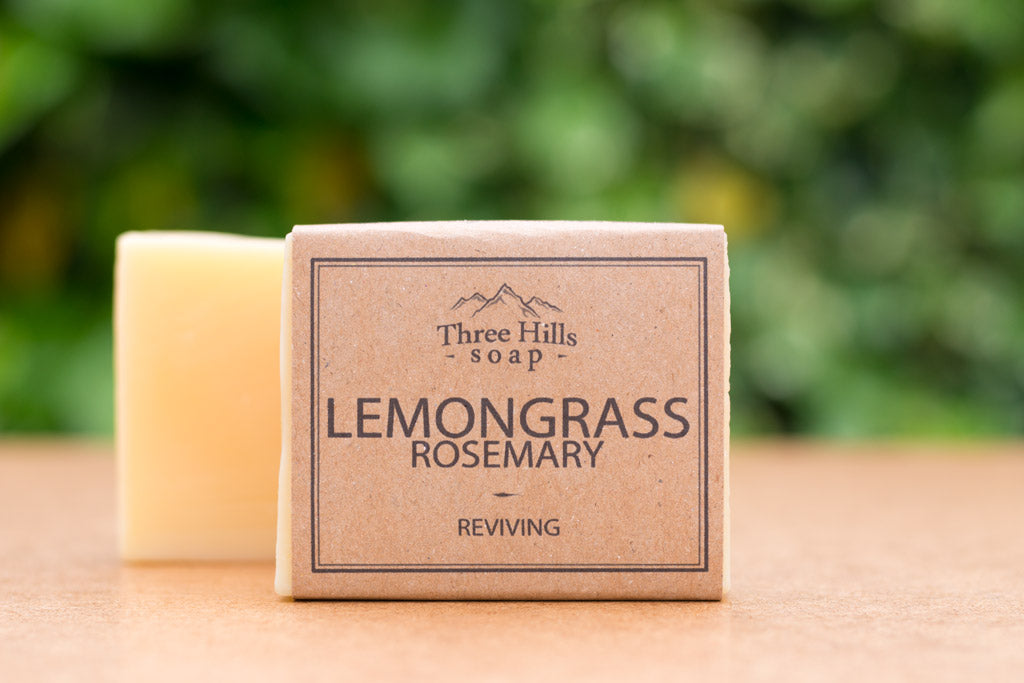Lemongrass Rosemary Soap Bar 100% Natural – a reviving face and body soap - Eco Kindly