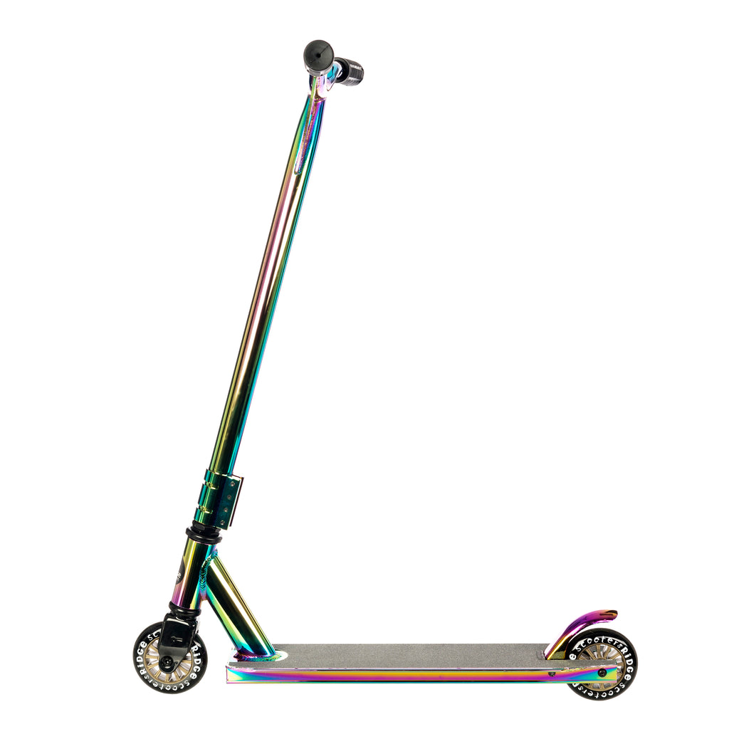 Ridge XTPro-Extra Extra Wing-Bar Neochrome Lightweight Aluminium Adult Stunt Scooter