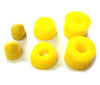 Ridge Retro Cruiser Skateboard Cushions 90A Yellow Bushings and Pivot Cups Set