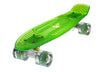 The Ridge Blaze Transparent Mini Cruiser in green w LED light up wheels in 5 colours