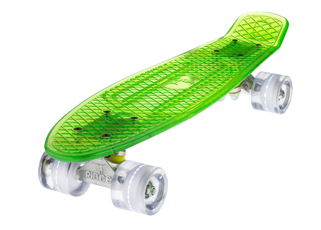 The Ridge Blaze Transparent Mini Cruiser w LED light up wheels