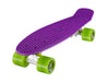 "Ridge 22"" Mini Cruiser complete board in purple with a choice of 12 wheel colours"