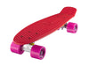 "Ridge 22"" Mini Cruiser complete board in red with 12 wheel colours"
