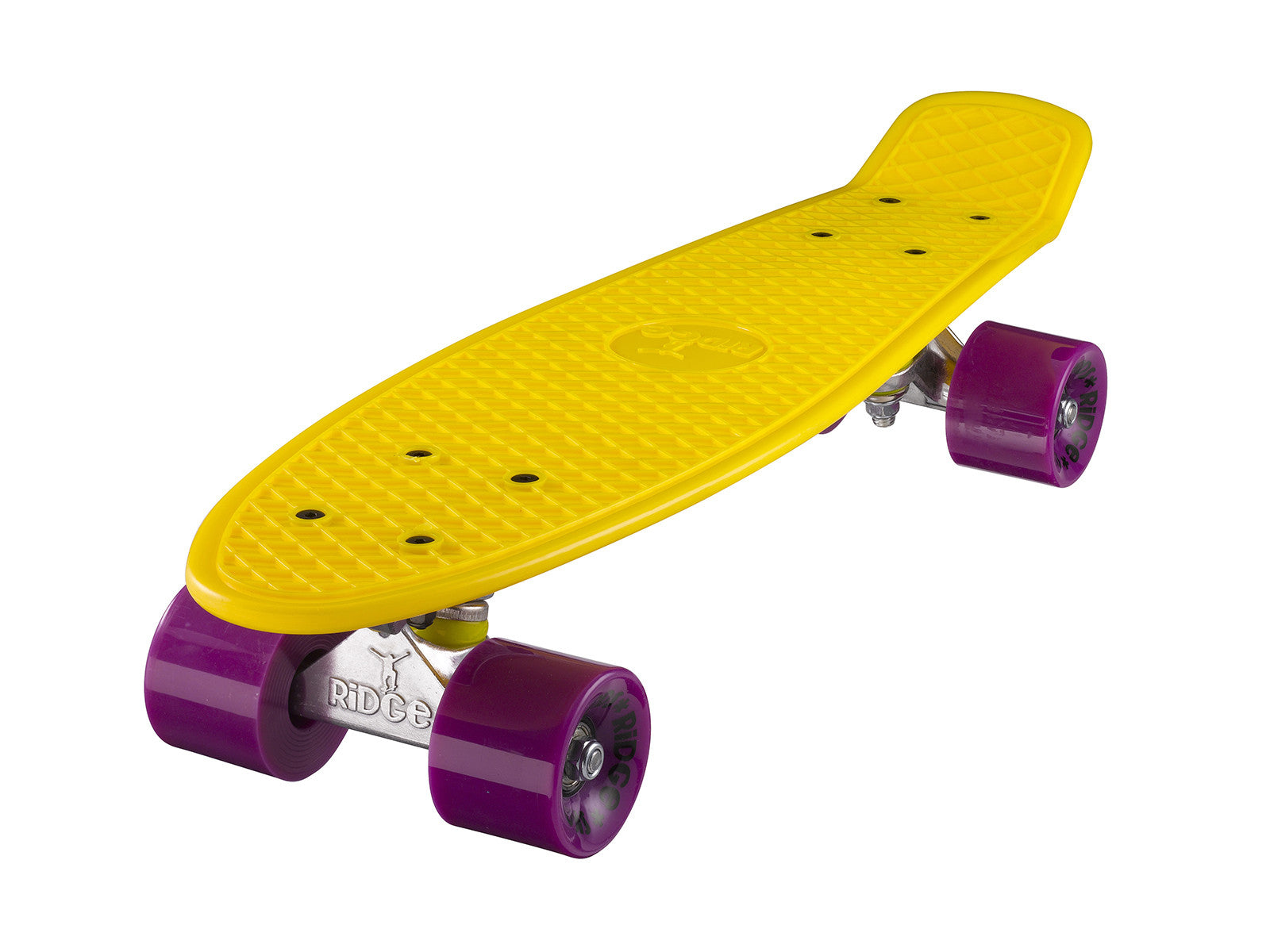 "Ridge 22"" Mini Cruiser complete board in yellow with a choice of 12 wheel colours"