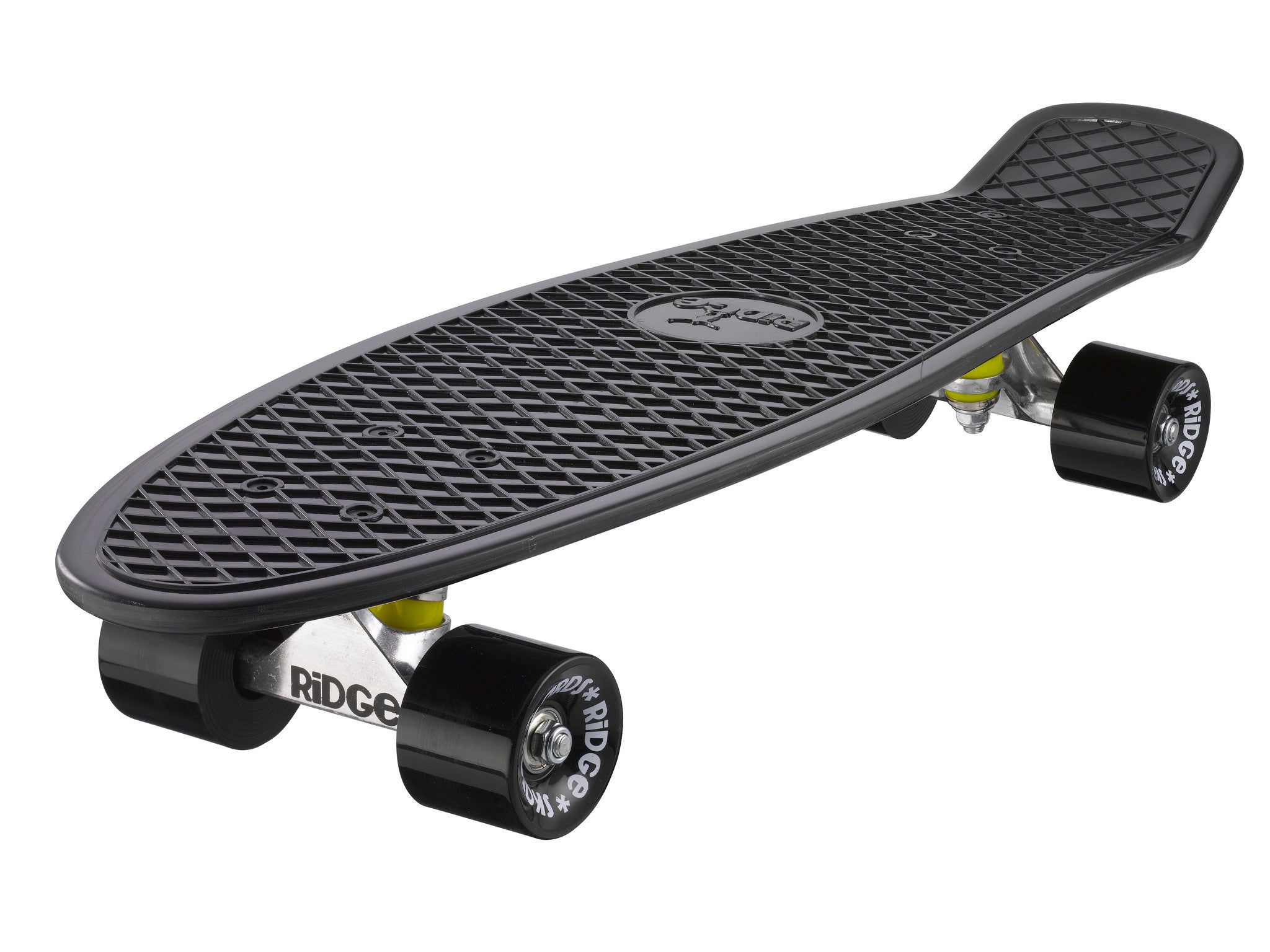 "Ridge 27"" Big Brother Mini Cruiser complete board skateboard in black"
