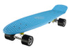 "Ridge 27"" Big Brother Mini Cruiser complete board skateboard in blue with 12 wheel colours"