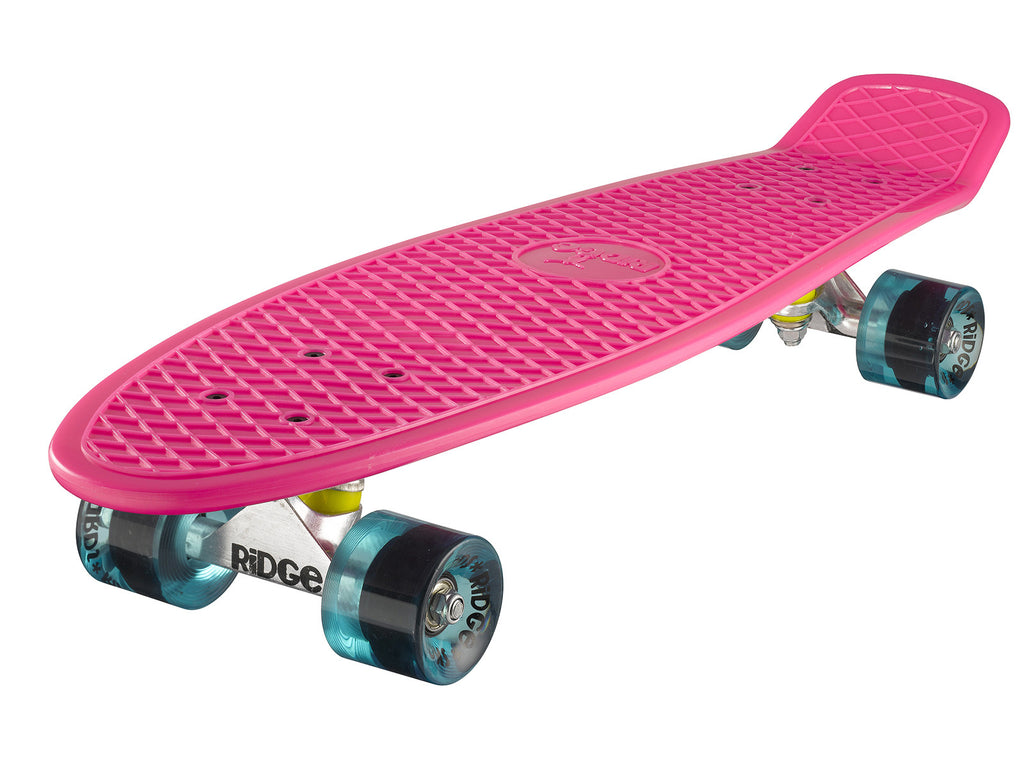 "Ridge 27"" Big Brother Mini Cruiser complete board skateboard in pink"