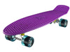 "Ridge 27"" Big Brother Mini Cruiser complete board skateboard in purple with 12 wheel options"