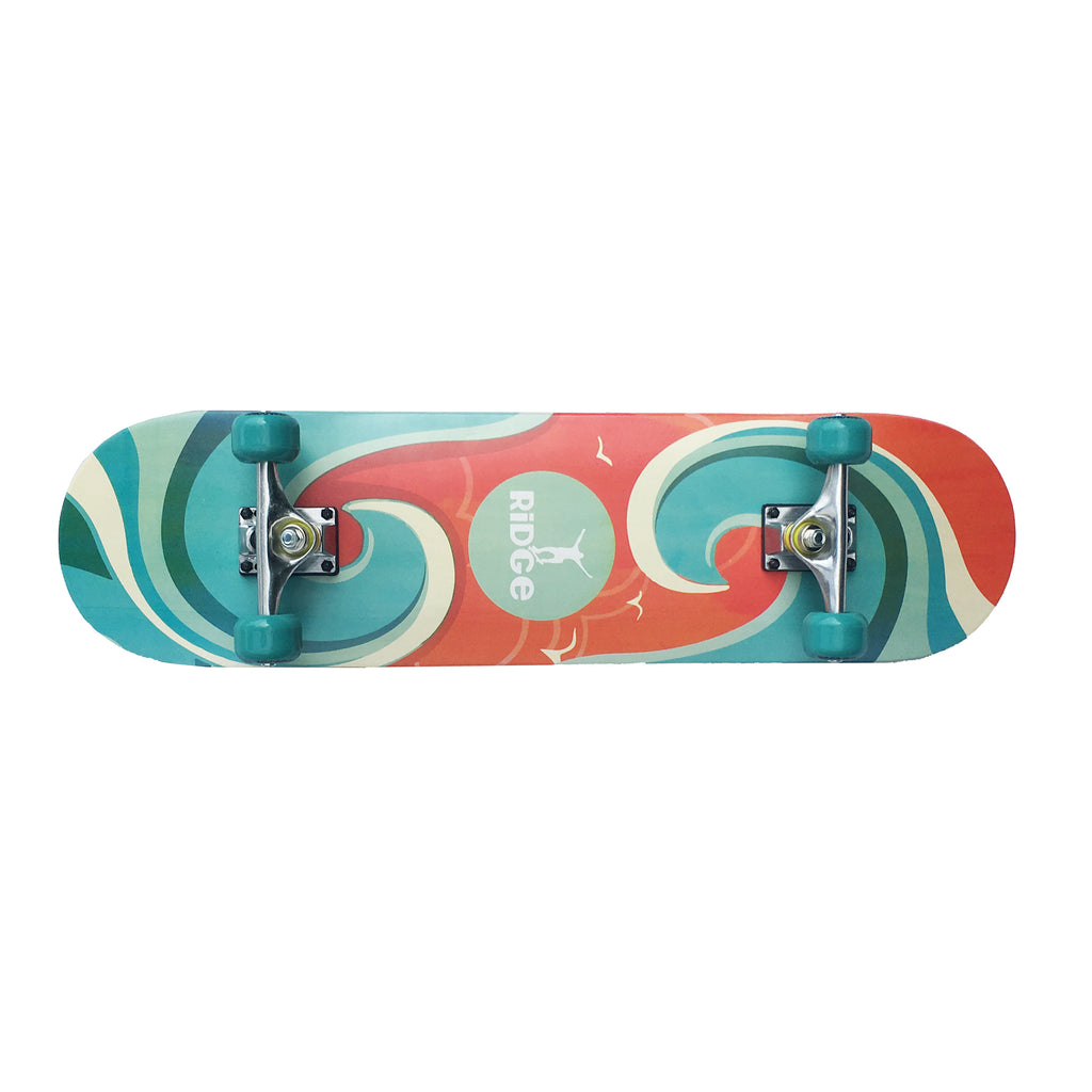 "NEW WAVE 32"" DOUBLE KICK MAPLE CONCAVE BOARD"