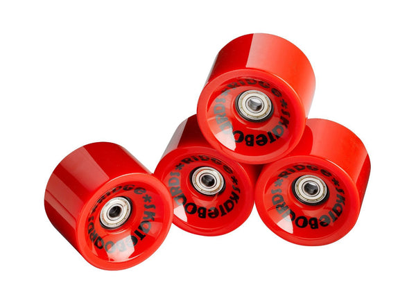 Ridge 70mm 78A PU Longboard Skate Wheels w ABEC 7 Bearings Set of 4