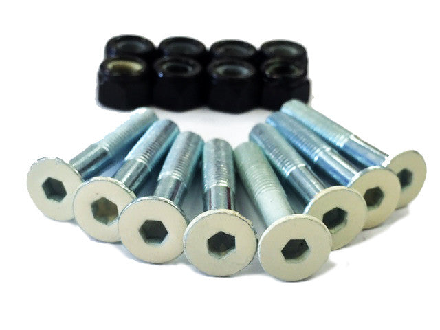 Ridge Skateboard Hardware Gumball Bolts w Coloured Hex Heads